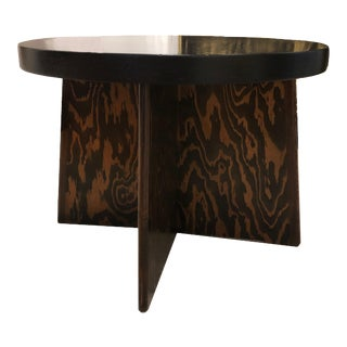 1920s French Art Deco Low Table With Ebonized Top For Sale