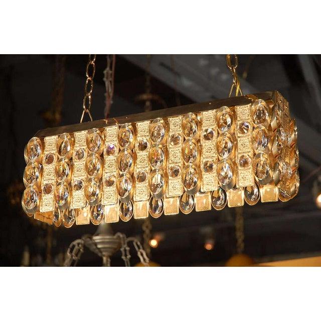 J. & L. Lobmeyr Lobmeyr Crystal and Gold Pendant For Sale - Image 4 of 11