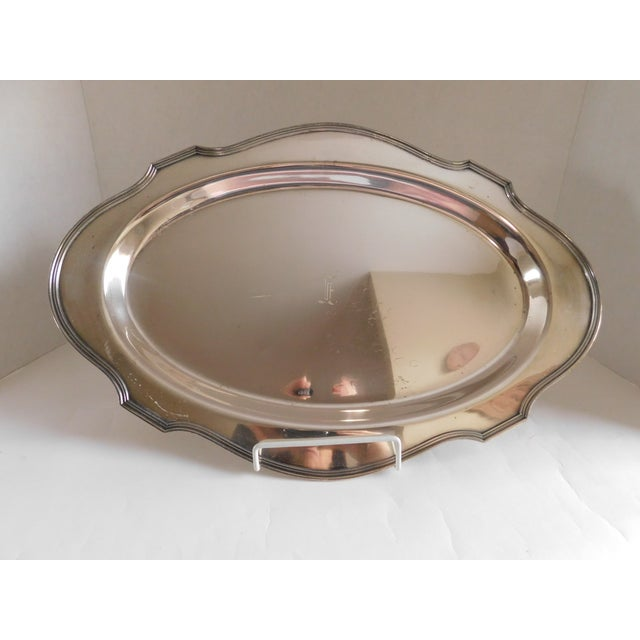 Early 20th Century e.g Webster & Sons Antique Silver Serving Tray For Sale - Image 5 of 11