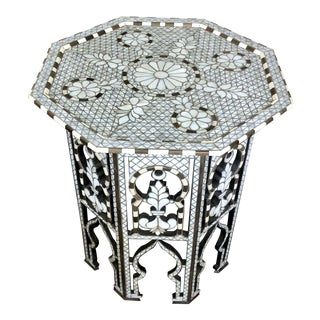 Mother of Pearl Inlaid Octagonal Side Table For Sale
