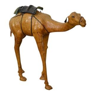 Vintage Leather Standing Camel For Sale