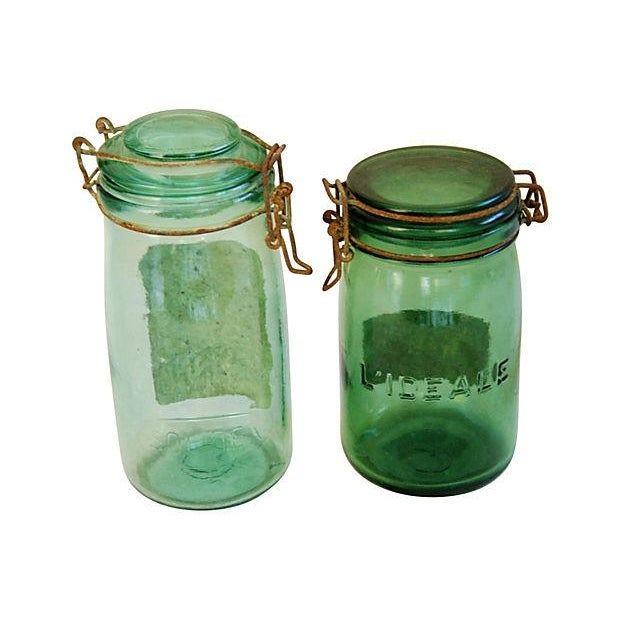 Early 1900s French Preserve Canning Jars - A Pair - Image 3 of 5