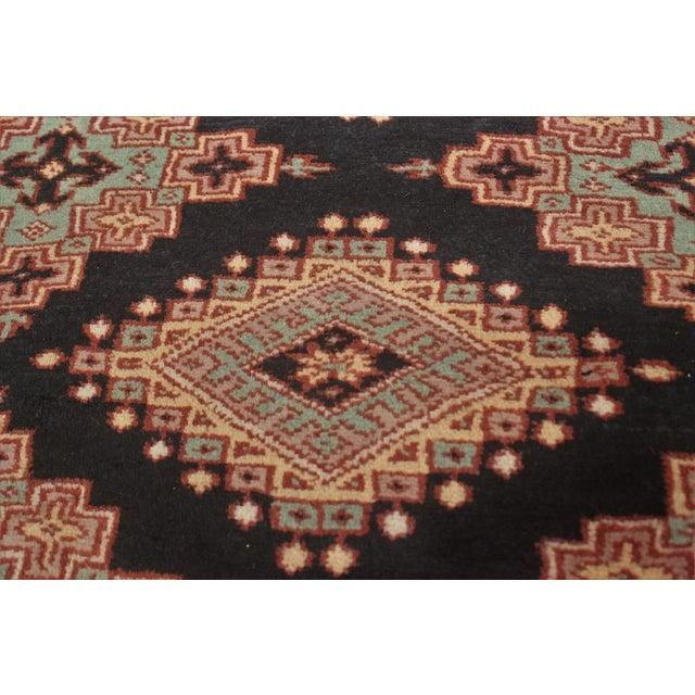 """Rustic Bokara Arya Kum Black & Brown Wool Rug - 10'3"""" x 13'11"""" For Sale - Image 3 of 7"""