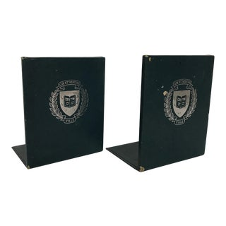 Yale University Bookends - A Pair