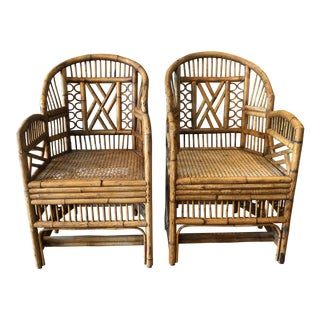 Rattan Brighton Pavilion Chairs - A Pair