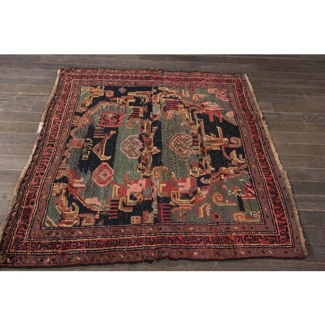 "Apadana - Antique Persian Bidjar Rug, 4' x 4'3"" - Image 2 of 4"
