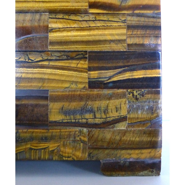 Tessellated Tigers Eye Table Lamps - A Pair - Image 4 of 10