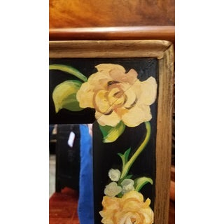 Black Floral Painted Mirror Preview