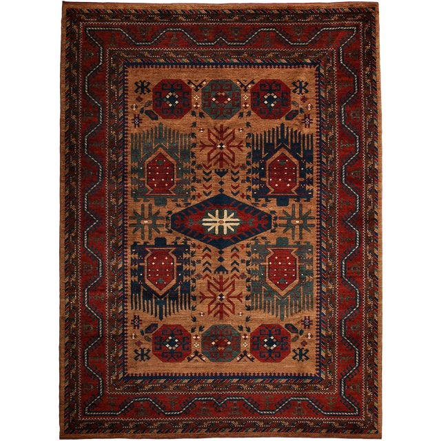 "Khyber Hand Knotted Area Rug - 7'4"" x 10'1"" For Sale - Image 4 of 4"