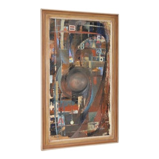 """Jack Wilson """"Abc Time"""" Oil Painting C.1966 For Sale"""
