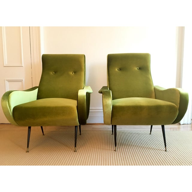 Marco Zanuso-Style Citrine Club Chairs - A Pair - Image 2 of 5