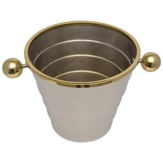 Art Deco Champagne Bucket by Larry Laslo for Towle C. 1980s For Sale