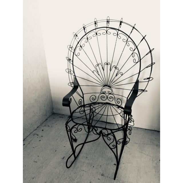 Wrought Iron Peacock Rocking Chair For Sale - Image 11 of 11