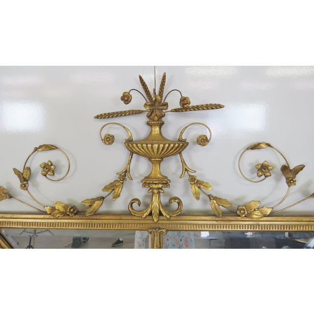 Neoclassical Style Gilt Beveled Mirrors - Pair - Image 2 of 5