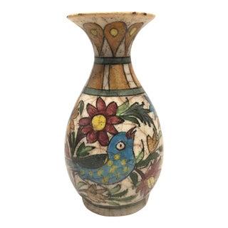 Antique Persian Painted Ceramic Vase For Sale