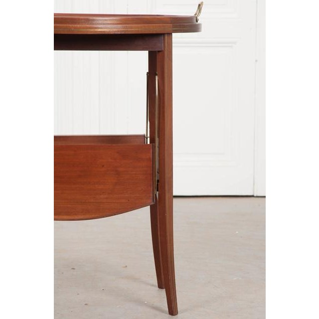French Early 20th Century Oval Mahogany Tea Table For Sale - Image 12 of 13