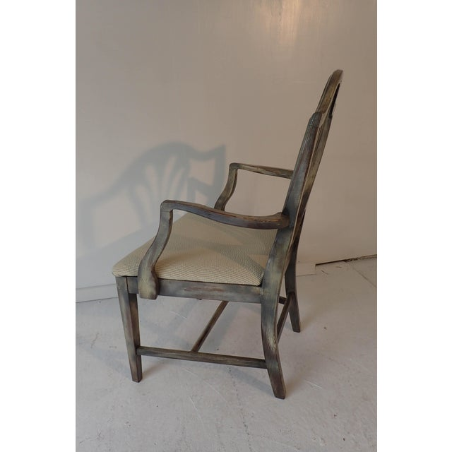 Duncan Phyfe Style Side Chair Distressed Decor Finish 38.5H x 23D x 24W For Sale - Image 9 of 9