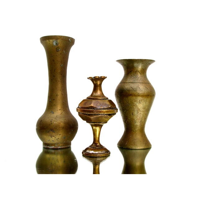 Vintage Brass Bud Vases - Set of 5 For Sale In Los Angeles - Image 6 of 8