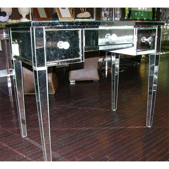 Mid-Century Modern Custom Mirrored Desk For Sale - Image 3 of 8