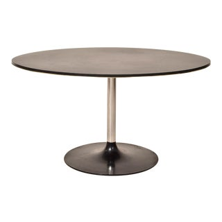Vintage Black Round Dining Table For Sale