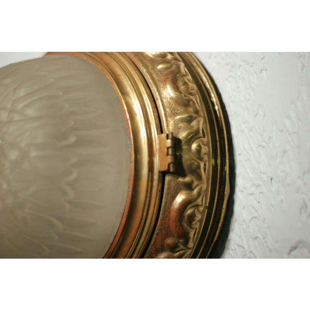 Solid Bronze Dome Ceiling or Wall Light Fixture - Image 3 of 4