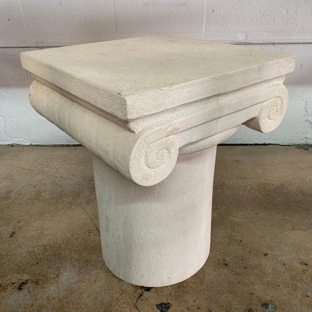 Italian 1980s Italian Kreiss Collection Ionic Column Table For Sale - Image 3 of 10