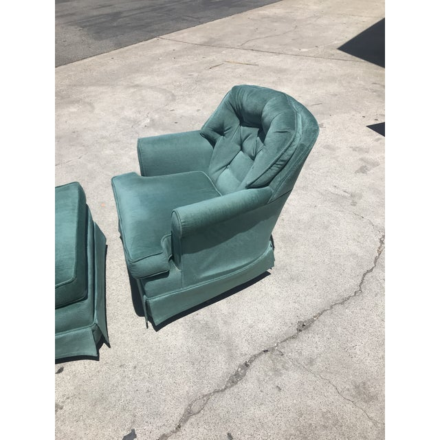 Mid 20th Century Vintage Swivel Rocking Chair For Sale - Image 5 of 10