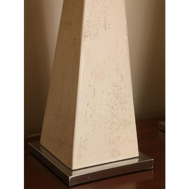Pair of Modern Obelisk Table Lamps For Sale In Miami - Image 6 of 11