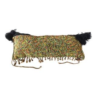 Tribal African Kirdi Beaded Pikuran Lumbar Pillow For Sale