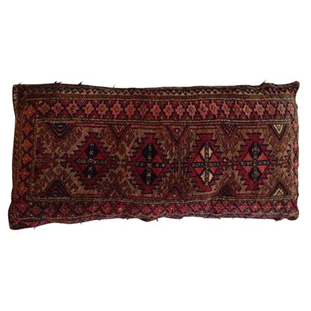 Vintage Rug Remnant Floor Pillow - Image 1 of 10