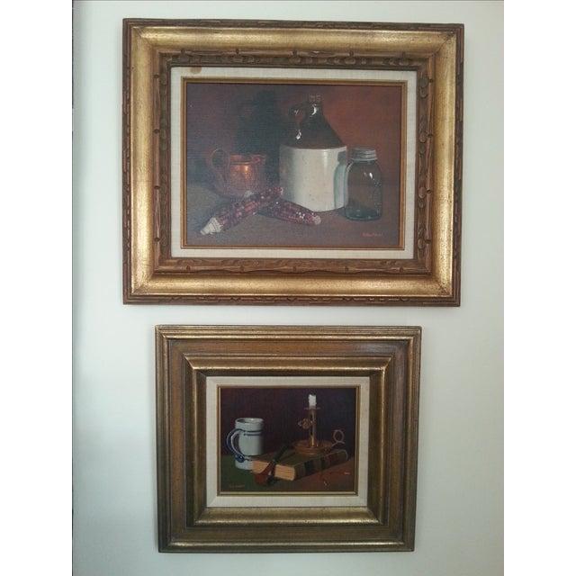 Original Vintage Still Life Painting - Image 8 of 8