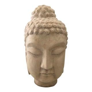 Chinese Ivory Ceramic Buddha Head For Sale