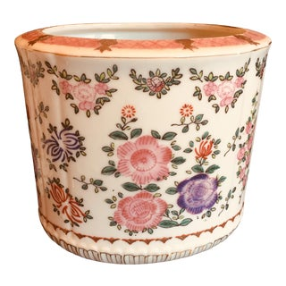 Antique Samson Style Chinese Export Porcelain Planters Cachepots - a Pair For Sale