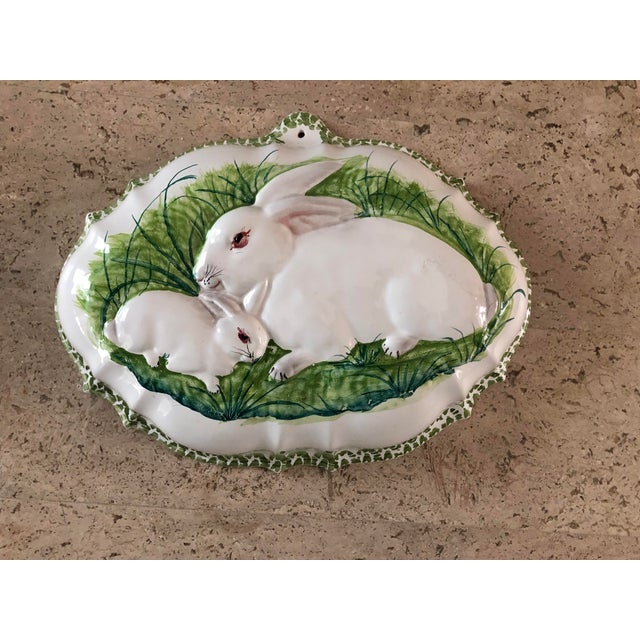 Ceramic Intrada Italian Majolica Bunny Mold For Sale - Image 7 of 7