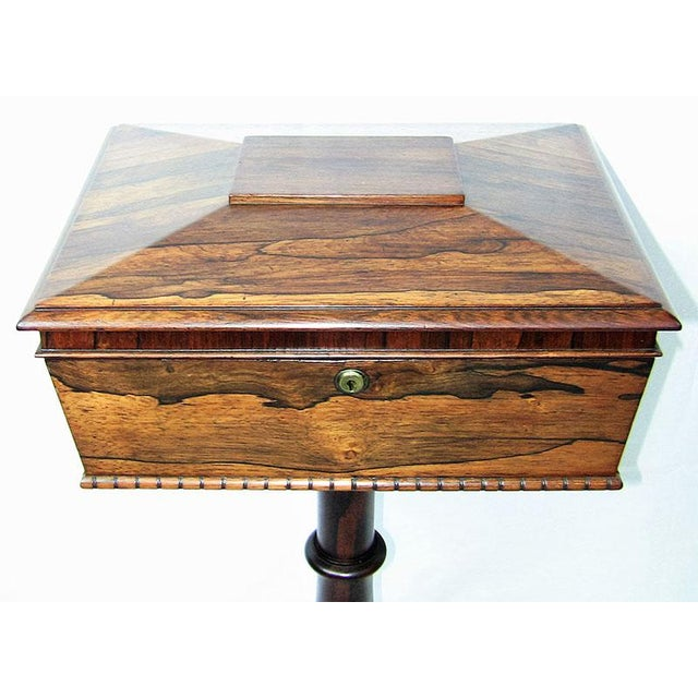 STUNNING early Teapoy !!! Made circa 1830 in Britain, during the reign of William IV.............. REGENCY PERIOD !! In...