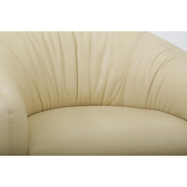 Tan Leather Barrel Back Chairs, Metropolitan 1970's For Sale - Image 8 of 13