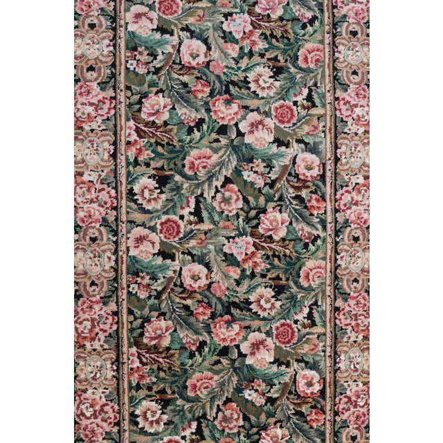 Hand-Knotted Floral European Design Runner Rug Floral - 2′6″ × 12′ - Image 5 of 5