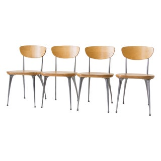 Shelby Williams Gazelle-Leg Dining Chairs - S/4 For Sale