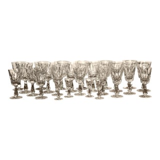 "Discontinued/Retired Waterford Crystal ""Rosslare"" Stemware - 25 Piece Set For Sale"