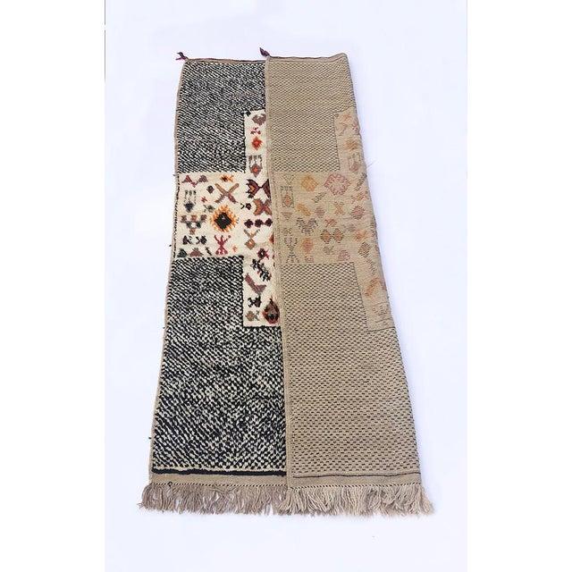 "Vintage Tribal Berber Wool Checkerboard Rug-5'2"" X 8'8"" For Sale - Image 9 of 10"