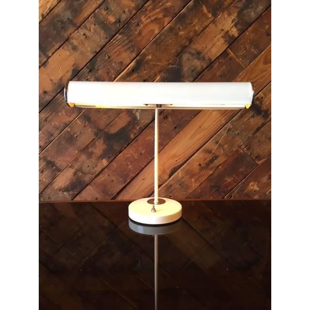 Vintage White Chrome Task Lamp - Image 6 of 6