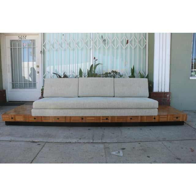 Adrian Pearsall Patched Burlwood Platform Sofa For Sale - Image 12 of 12