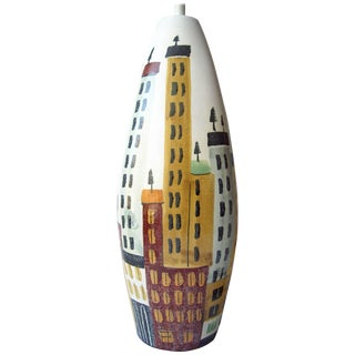 Bitossi, Cityscape Ceramic Table Lamp For Sale
