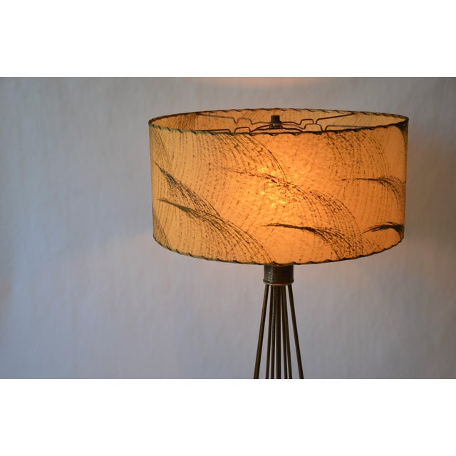 Atomic Modern Wire Frame Lamp and Shade For Sale - Image 10 of 12