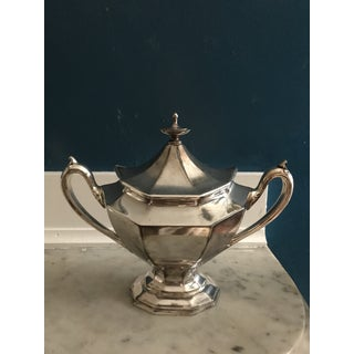 Antique Reed and Barton Silver Plate Covered Sugar Bowl and Matching Creamer - Set of 3 Preview