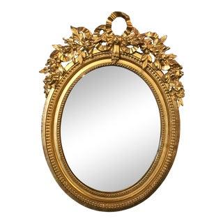 Napoleon III Oval Parcel Gilt Mirror For Sale