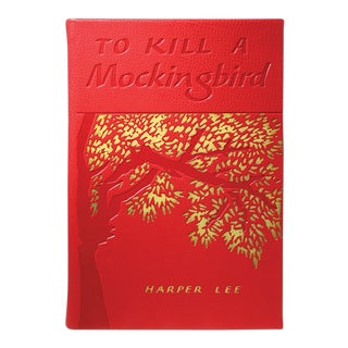 """To Kill A Mockingbird"" by Harper Lee, Traditional Leather Book in Red For Sale"