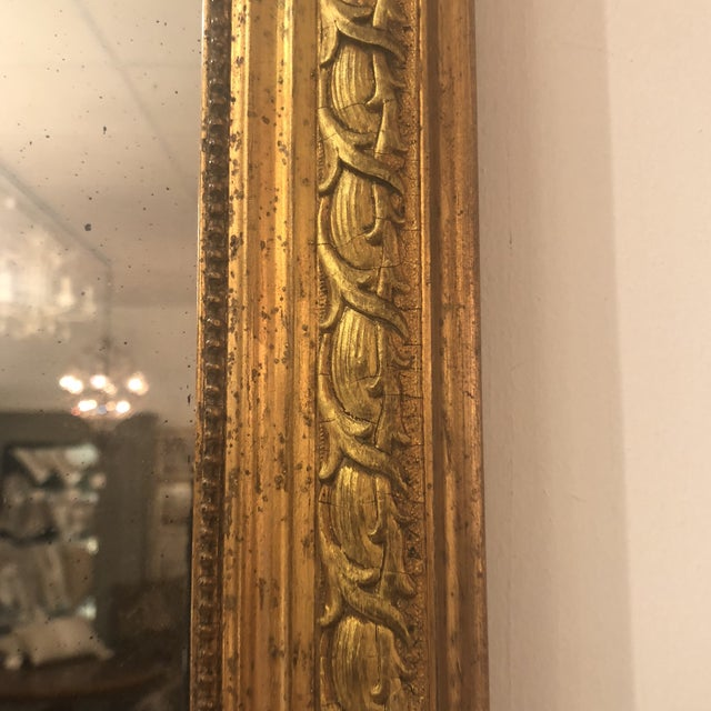 Glass Louis Phillipe Gold Mirror For Sale - Image 7 of 11