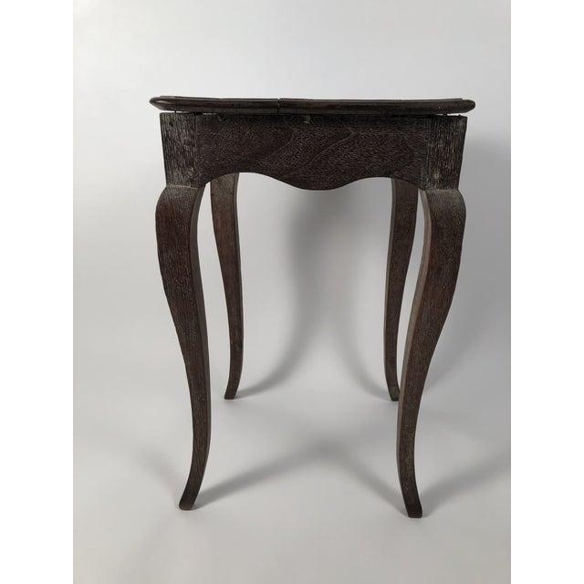Small Louis XV Style Walnut and Limed Oak Side Table For Sale - Image 9 of 11