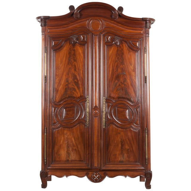 18th Century French Mahogany Armoire from the Port of Normandy For Sale - Image 13 of 13